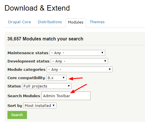 Drupal 8搜索模块
